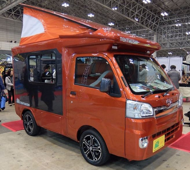 just a car guy small rvs from the japan camping car show. Black Bedroom Furniture Sets. Home Design Ideas