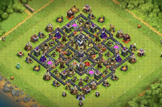 Town hall 9 Farming Base layout COC