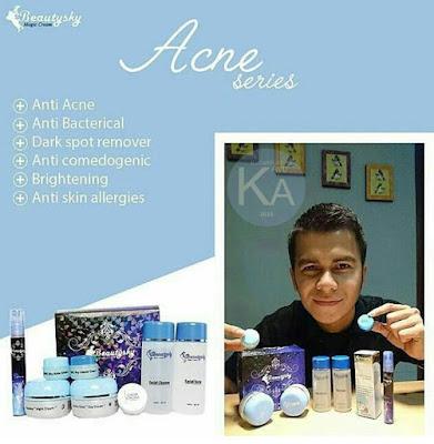 Keterangan paket acne cream beautysky