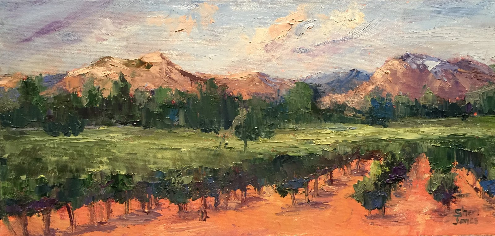 Daily Painters Of Texas New Impressionist Landscape Painting By