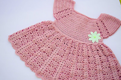 4 - Crochet Imagen Vestido con canesú morado a crochet muy fácil y sencillo por Majovel Crochet
