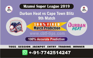 Who will win Today MSL T20 2019, 9th Match Cape Town vs Durban 9th, Mzansi 2019 MSL T20