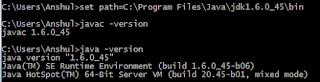 periksa versi compiler Java dengan command prompt pada Windows