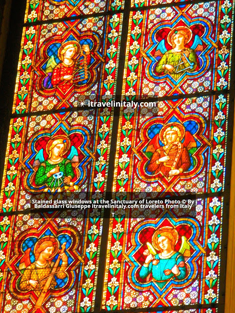 Stained glass windows at the Sanctuary of Loreto Photo © By Baldassarri Giuseppe itravelinitaly.com travelers from Italy  T