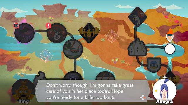 Ring Fit Adventure World 30 Extra Fitness Lv. 198 Allegra killer workout dialogue