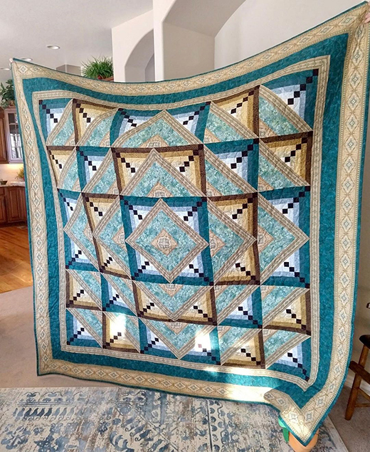 Blue Kashmir Quilt designed by Jinny Beyer