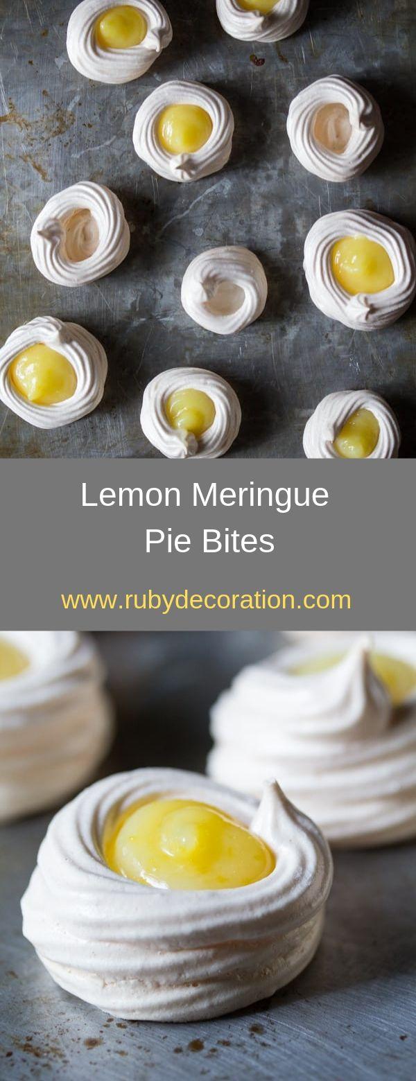 Lemon Meringue Pie Bites