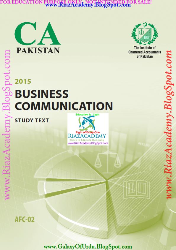 2015-CA ICAP-AFC 02 - Business Communication - Study Text