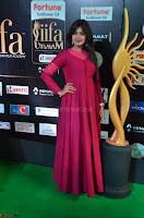 Monal Gajjar in Maroon Gown Stunning Cute Beauty at IIFA Utsavam Awards 2017 032.JPG