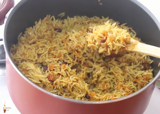 الأرز المرافق للفروج