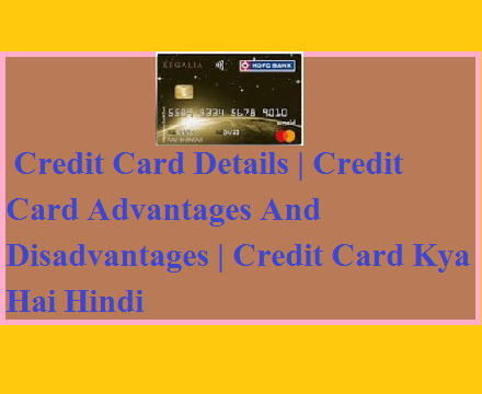 Credit Card Details | Credit Card Advantages And Disadvantages | Credit Card Kya Hai Hindi
