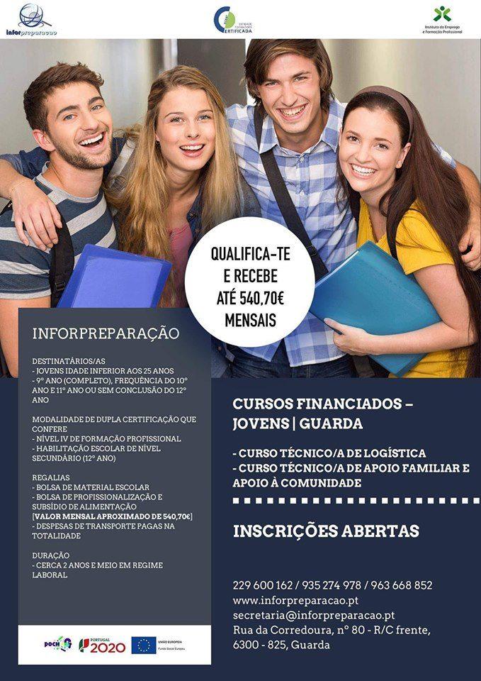 Cursos para jovens na Guarda (com bolsa até 540€ por mês)