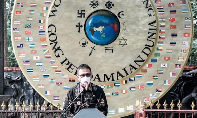 """Bupati, """"Gong Perdamaian Simbol Persaudaraan dan Perdamaian Umat Manusia"""""""