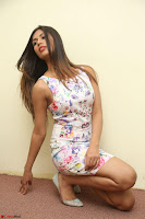 Nishi Ganda stunning cute in Flower Print short dress at Tick Tack Movie Press Meet March 2017 100.JPG