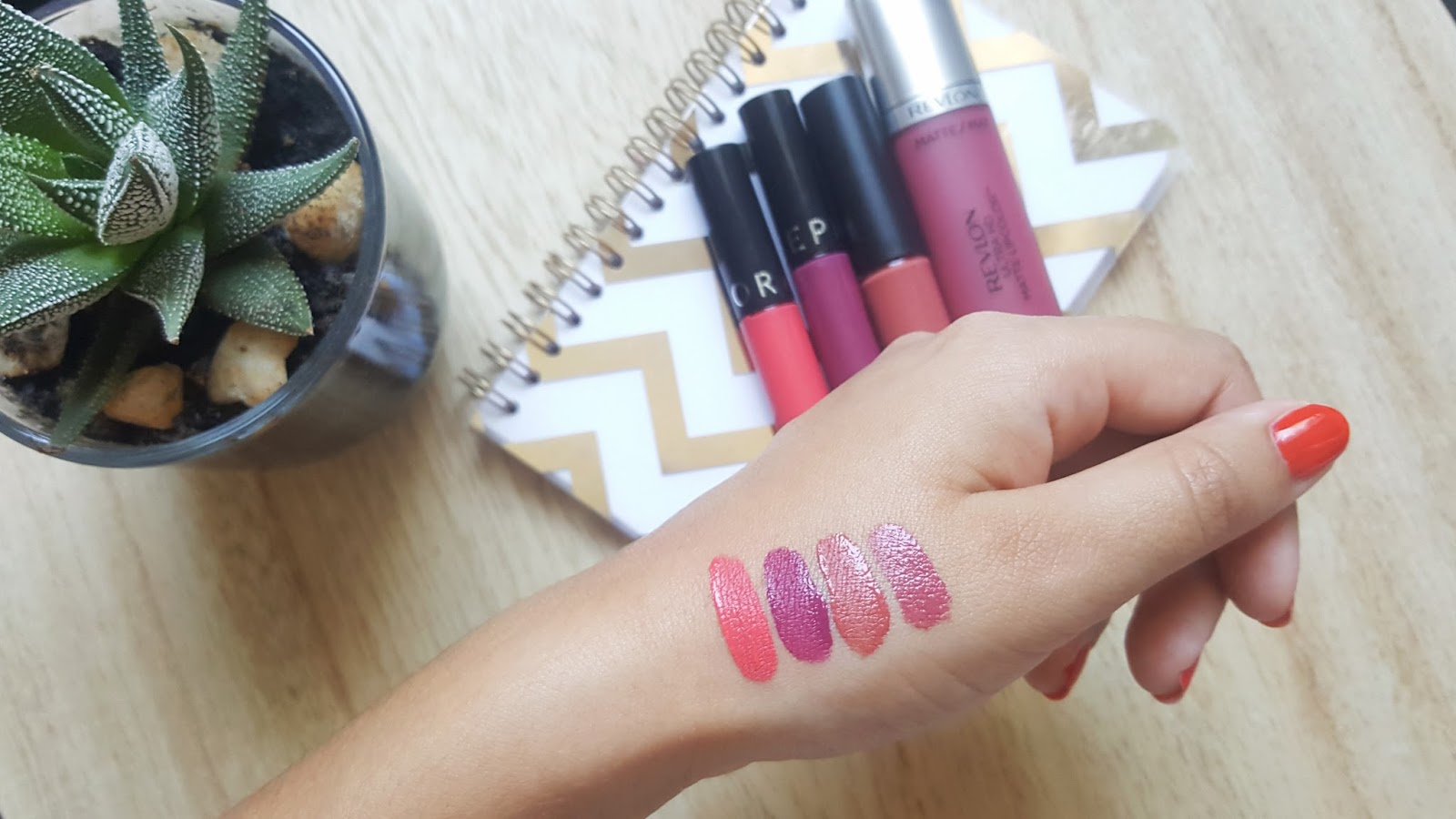 swatchs liquid lipsticks summer