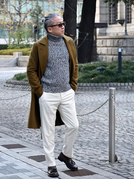 40代メンズの白パンツのコーディネート