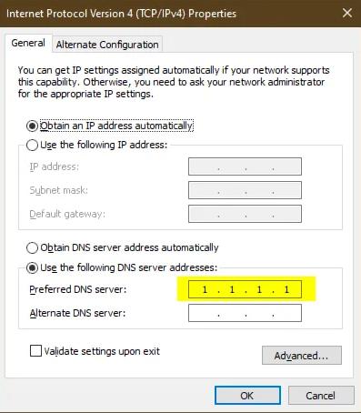cara mengubah dns di windows 10 dengan cloudflare