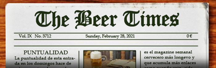 Dominical suplemento de noticias sobre cerveza. Aquí puedes leer el periódico The Beer Times.