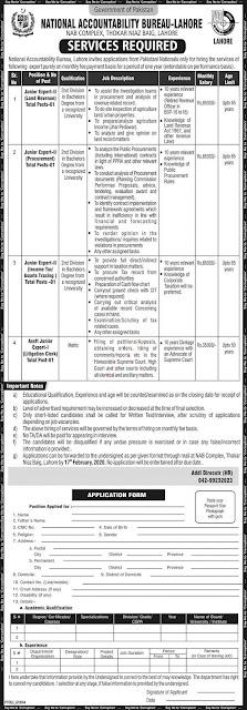 National Accountability Bureau NAB Govt Jobs 2020