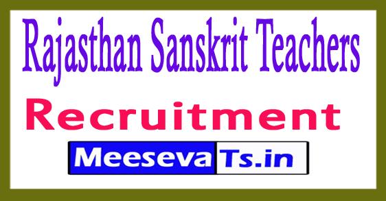 Rajasthan Sanskrit Teachers Recruitment Notification 2017