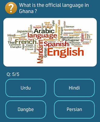 What is the official language in Ghana?