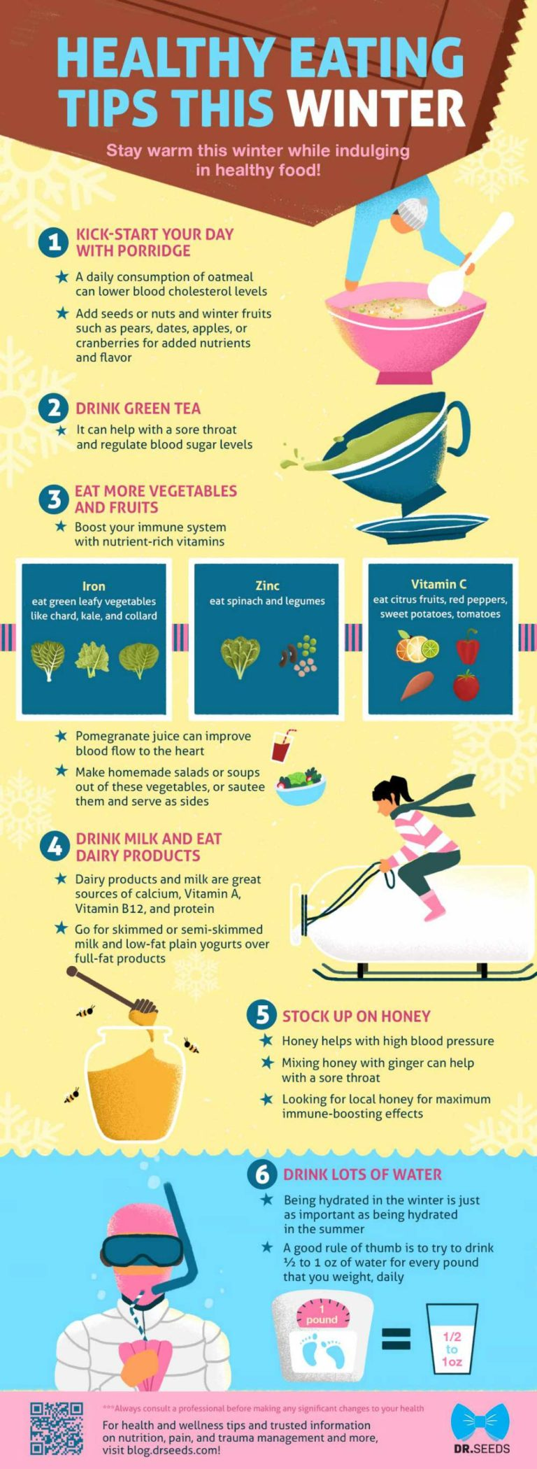 Healthy Eating Tips This Winter #infographic #Health #Winter #Eating Tips