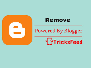 how to remove poered bu blogger