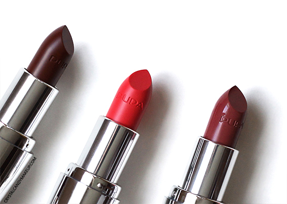 Pupa I'm Lipsticks Review 107 Litchi 208 Sunny Coral 308 Burgundy