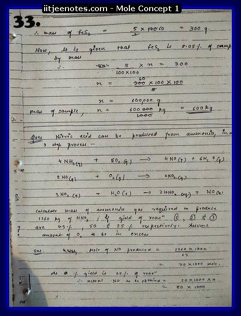 Mole Concept Notes IITJEE1