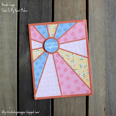 Sunburst Technique Blog Hop - card 1