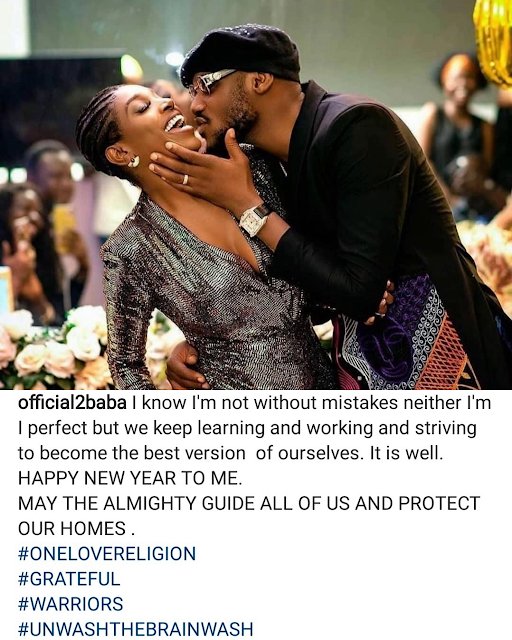 I know I'm not without mistakes- Tuface says as he shares loved-up photo with his wife, Annie, weeks after their martial crises