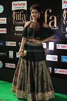 Ritika Singh in a Ethnic Deep Neck Dark Green Choli Ghagra at IIFA Utsavam Awards March 2017 ~ 049.JPG