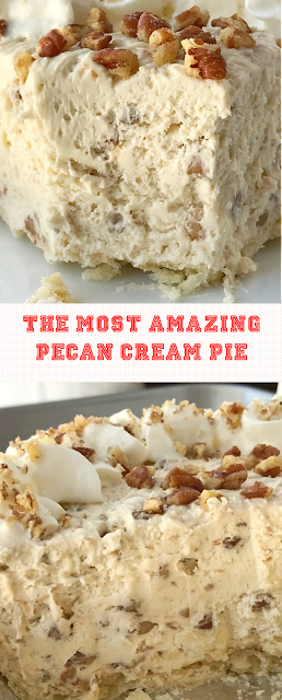 The Most Amazing Pecan Cream Pie
