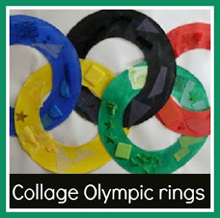 Collage Olympic rings craft for children