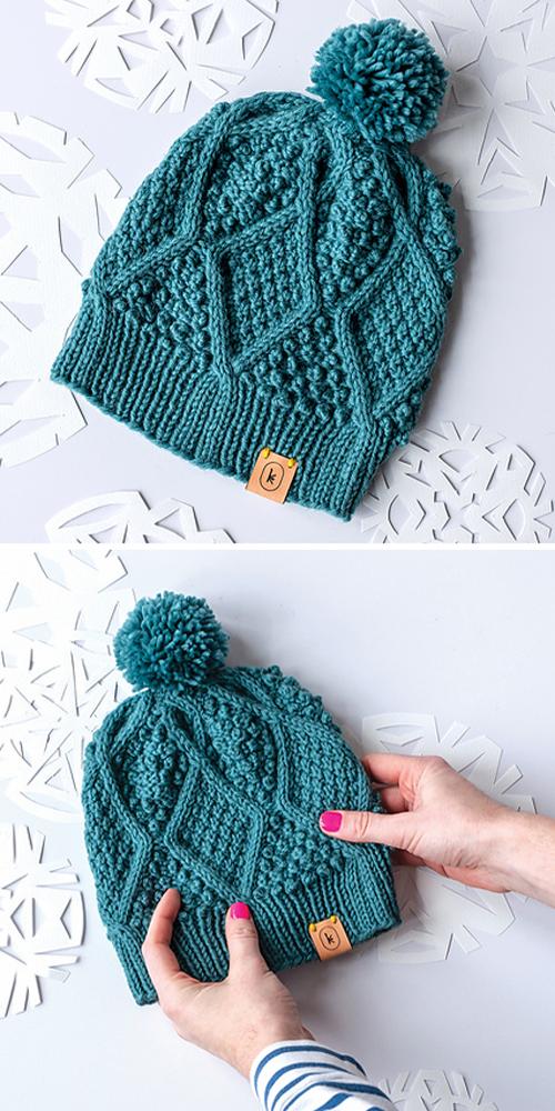 The Diamond Hat - Free Knitting Pattern