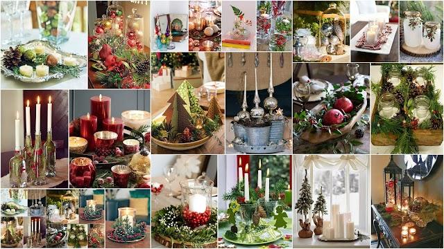 Χριστουγεννιάτικες Επιτραπέζιες Συνθέσεις