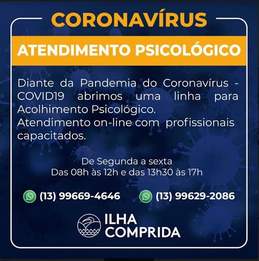 Ilha Comprida oferece atendimento psicológico gratuito por telefone