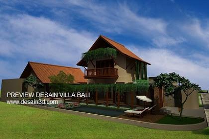 Jasa Design Rumah Nuansa Villa Bali Murah Berkualitas