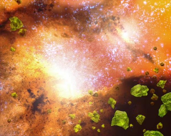 Galactic Hearts of Glass, gravitasi alam semesta