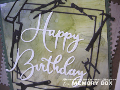 happy birthday card for men with re-inkers and alcohol detail