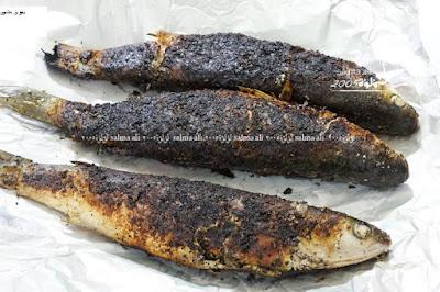 افضل طريقة لعمل سمك البورى المشوى سنجارى  فى الفرن بدون دخان