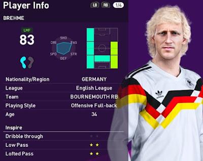 PES 2021 Faces Andreas Brehme by Alireza