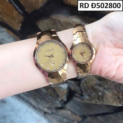 Đồng hồ cặp đôi Rado mặt vuông RD Đ502800