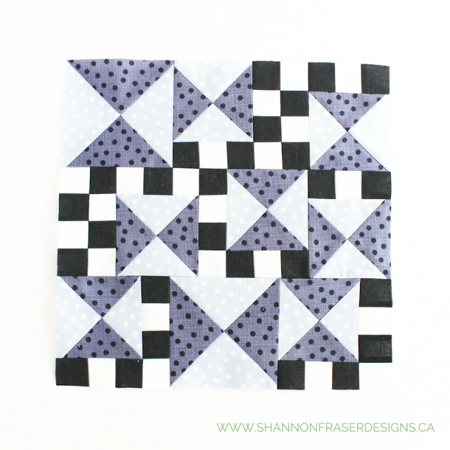Chronograph | January Quilter's Planner Blocks | Shannon Fraser Designs | Modern Quilting | Free Quilting Block Patterns
