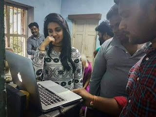 Keerthy Suresh in Black Dress with Cute and Awesome Expressions at Shooting Location