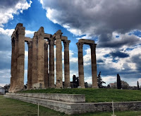 Visiting historical monuments in Athens, Greece