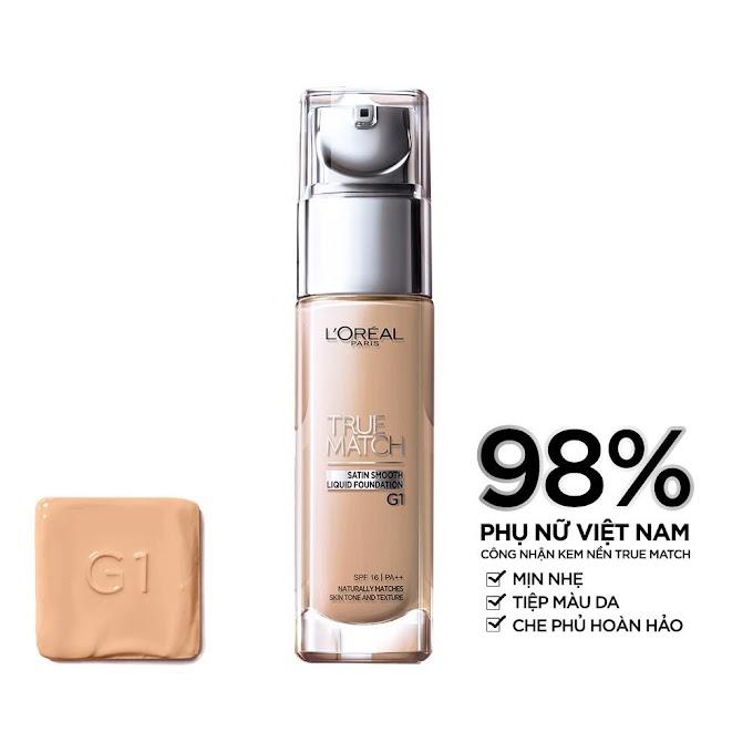 Kem nền mịn da dạng lỏng L'Oréal Paris True Match Liquid Foundation 30ml