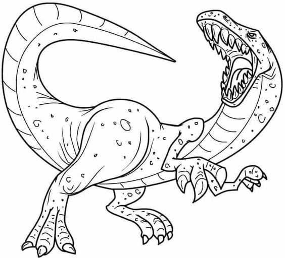 Dinosaurs coloring pages 35