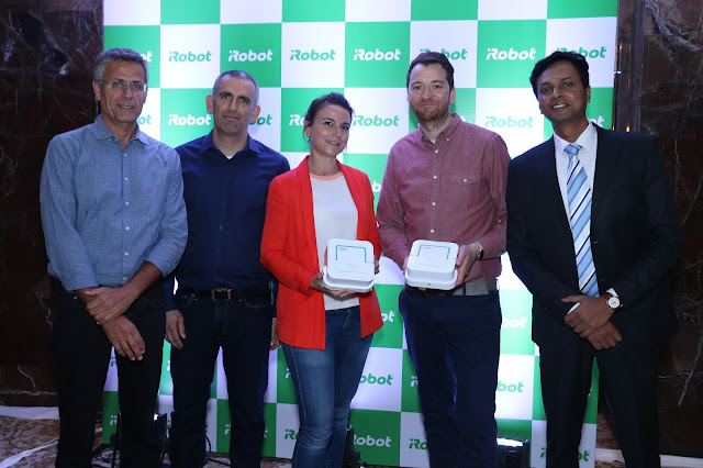 Sharon Zuzovsky, Asaf Merary, Director, India Puresight Systems Pvt Ltd, Marie Chevalier, Product Manager, EMEA, iRobot, Gavin Wilmot, Sales Manager, EMEAI, iRobot and Pulak Kumar Satish, Head of B-