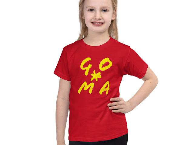 GOMAGEAR GO*MA INITIALS CHILDREN JERSEY T-SHIRT